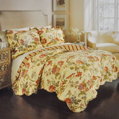 Charleston Chirp Floral Quilt Bedding Set by Waverly Full/Queen Size.  Ends: Jun 30, 2016 9:45:00 AM CDT