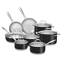 KitchenAid Stainless Steel Cookware Set, Black (14 pc.)