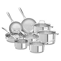 KitchenAid Stainless Steel Cookware Set, Stainless Steel (14 pc.)