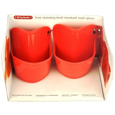 Cuisinart Silicone Oven Glove Set, Red (2 pc.).  Ends: Aug 29, 2014 7:10:00 AM CDT
