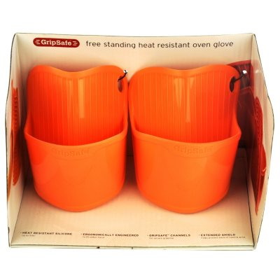 Cuisinart Silicone Oven Glove Set, Orange (2 pc.).  Ends: Aug 29, 2014 12:35:00 AM CDT
