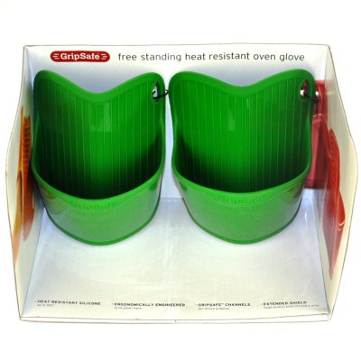 Cuisinart Silicone Oven Glove Set, Green (2 pc.).  Ends: Aug 21, 2014 1:50:00 PM CDT