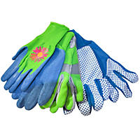 (Free Shipping) Midwest Quality 3-Pair Ladies Garden Pack Gloves, Large