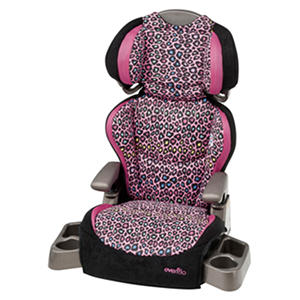 evenflo big kid lx booster seat neon leopard auctions. Black Bedroom Furniture Sets. Home Design Ideas