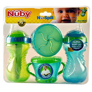 Nuby Cup Soft Spout Cup - Green/Blue