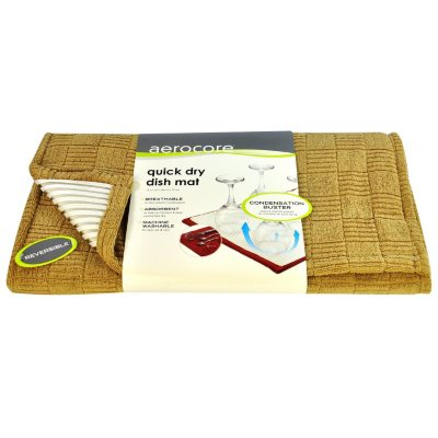 Aerocore Quick Dry Dish Mat, Deep Linen.  Ends: Sep 3, 2014 6:25:00 AM CDT