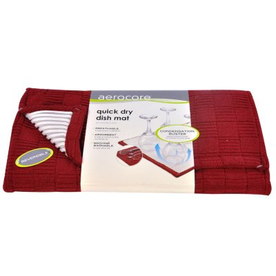 Aerocore Quick Dry Dish Mat, Red.  Ends: Aug 21, 2014 7:25:00 AM CDT