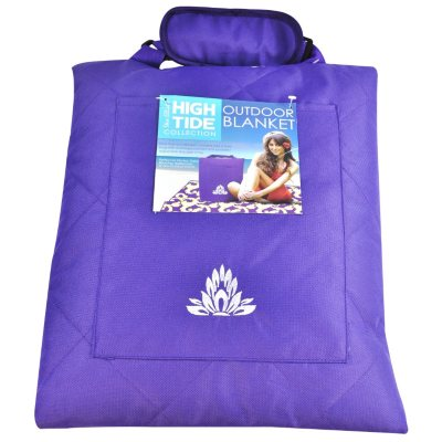 High Tide Outdoor Zipper Blanket, Dark Purple.  Ends: Aug 22, 2014 8:50:00 AM CDT