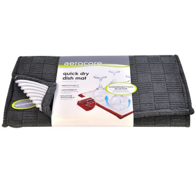 Aerocore Quick Dry Dish Mat, Charcoal.  Ends: Aug 29, 2014 12:30:00 AM CDT