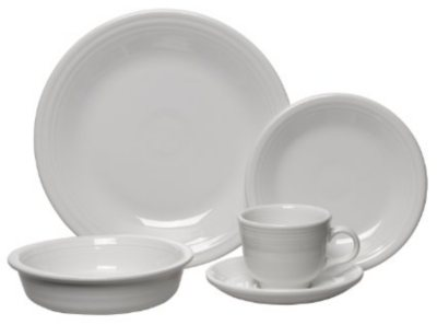 Fiesta 5PC Place Setting, White