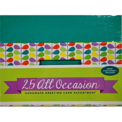 Berwick Offray All Occasion Cards w/ Envelopes, Teal (25 ct.).  Ends: Aug 1, 2015 11:25:00 AM CDT
