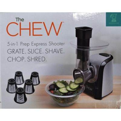 The CHEW 5-in-1 Prep Express Salad Shooter, Black