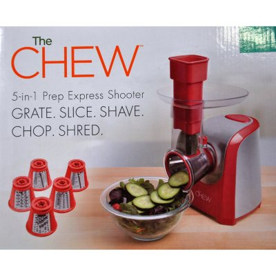 The CHEW 5-in-1 Prep Express Salad Shooter, Red