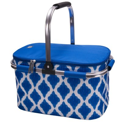 Igloo Party Basket with Pyrex 6 Piece Glassware Set, Blue.  Ends: Oct 21, 2014 5:00:00 PM CDT