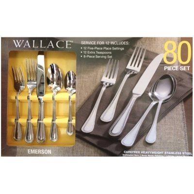Wallace Flatware 80-Piece Set, Emerson.  Ends: Feb 1, 2015 4:15:00 PM CST