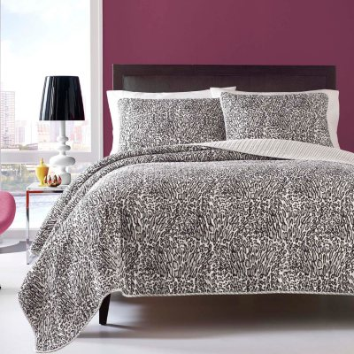 Betsey Johnson 3-Piece Quilt Set, Wild Leopard (Queen)