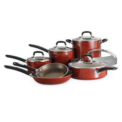Daily Chef 11 pc. Cookware Set, Red (Aluminum Nonstick).  Ends: Dec 19, 2014 6:30:00 AM CST