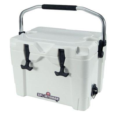 Igloo Sportsman 20 Quart Cooler, White - Aluminum Bail Handle.  Ends: May 30, 2016 12:00:00 PM CDT
