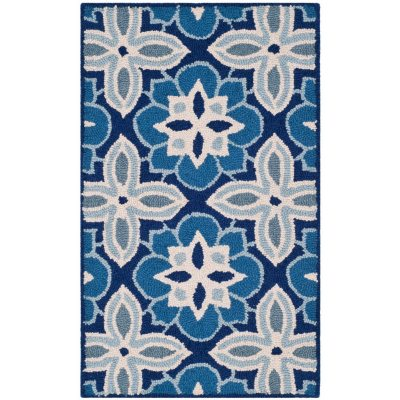 "Garland Collection Luxury Wool Accent Rug, Moroccan Blue (24"" x 40 "").  Ends: Nov 26, 2014 8:40:10 PM CST"