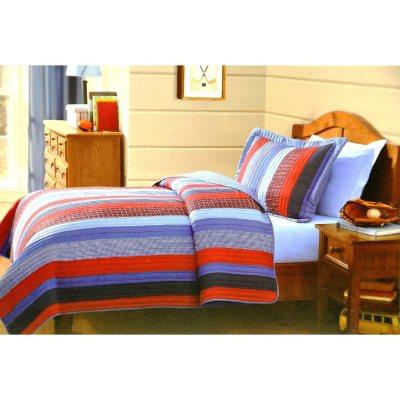 Laura Hart Mini Quilt Set, Multi-Color Stripes (Twin).  Ends: Sep 2, 2014 3:35:00 PM CDT