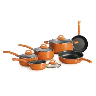 Simple Cooking 10 Pc. Cookware Set, Orange.  Ends: Sep 2, 2014 9:03:00 AM CDT