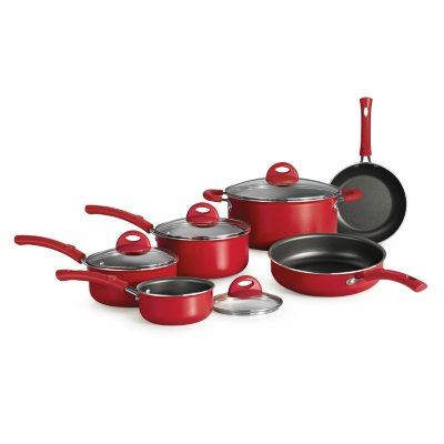 Simple Cooking 10 Pc. Cookware Set, Red.  Ends: Sep 2, 2014 9:06:00 PM CDT