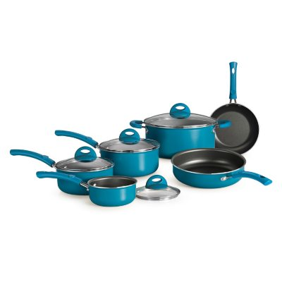 Simple Cooking 10 Pc. Cookware Set, Blue.  Ends: Sep 2, 2014 9:03:00 PM CDT