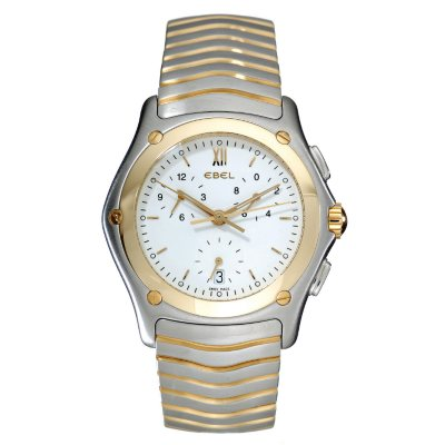Ebel Classic Wave Steel Yellow Gold Men's Watch.  Ends: Aug 29, 2014 12:30:00 AM CDT