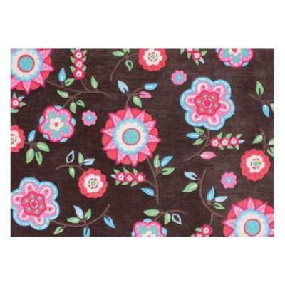 5' x 7' Kid's Rug - Brown w/Flowers.  Ends: Oct 31, 2014 5:00:00 PM CDT