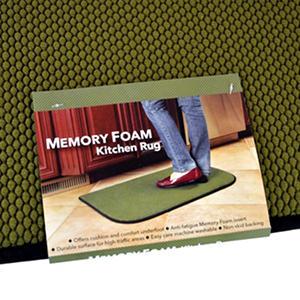 Memory Foam Rug - Green