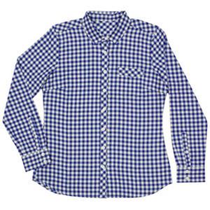 Eddie Bauer Ladies Plaid Flannel Shirt Blue L