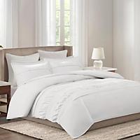 Echo Crete 4-Piece Bedding Set, White (King)