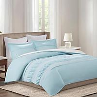 Echo Crete 4-Piece Bedding Set, Blue (King)