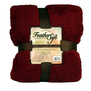 Feather Soft Throw - Burgandy