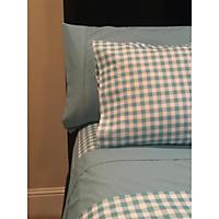 Brooklyn Loom Soft Touch 12-Piece Sheet Set, Aqua Plaid (King)
