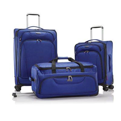 Samsonite 3-Piece Luggage Set, Blue.  Ends: Mar 1, 2015 5:20:00 AM CST