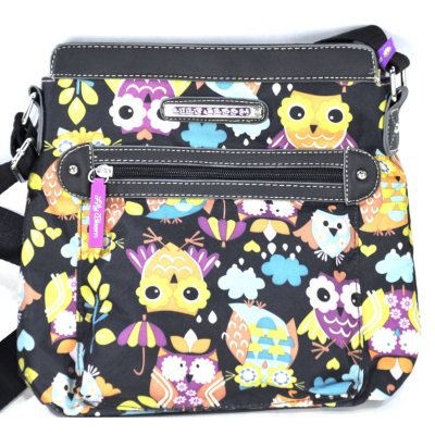 Lily Bloom Crossbody Purse, Flowers on Black.  Ends: May 30, 2015 3:30:00 PM CDT