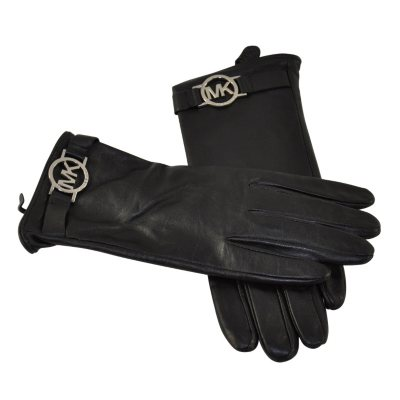 Michael Kors Women's Glove w/ MK Logo, Black (Medium).  Ends: May 25, 2016 3:50:00 PM CDT
