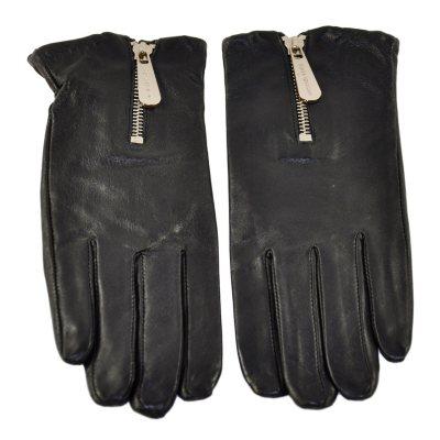 Michael Kors Women's Leather Glove Zipper, Black (Large).  Ends: May 25, 2016 11:55:00 AM CDT