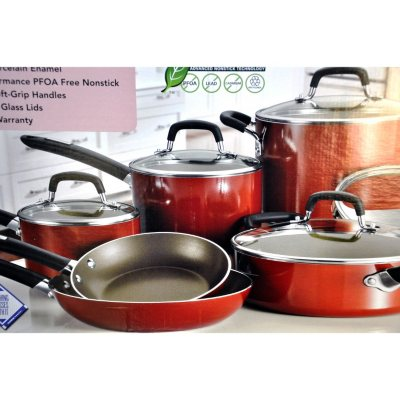 Tramontina 11 pc. Nonstick Cookware Set, Red.  Ends: Sep 2, 2014 7:00:00 PM CDT