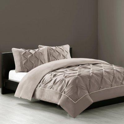 N by Natori 4 pc. Comforter Set, Mushroom (King).  Ends: Dec 21, 2014 1:25:00 AM CST