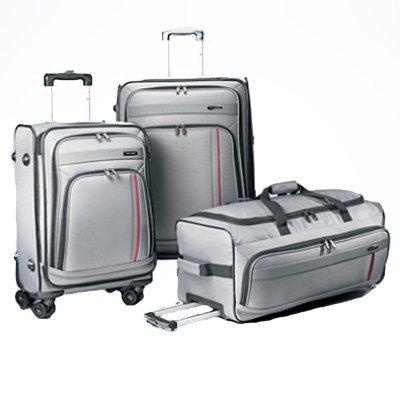 Samsonite 3PC Luggage Set, Grey.  Ends: Apr 27, 2015 1:00:00 AM CDT