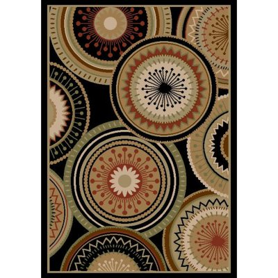 Sorrento Area Size Room Rug, Bordeuz Black/Multi (8' x 10').  Ends: Apr 18, 2014 5:40:00 PM CDT