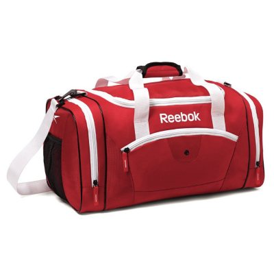 """Reebok 21"""" Fitness Duffel, Red.  Ends: Aug 23, 2014 5:20:00 PM CDT"""