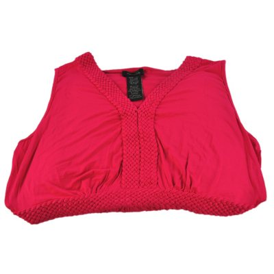 Spense Sleeveless Braided V-Neck Maxi Dress, Hot Pink (XLarge).  Ends: Oct 2, 2014 2:20:00 PM CDT