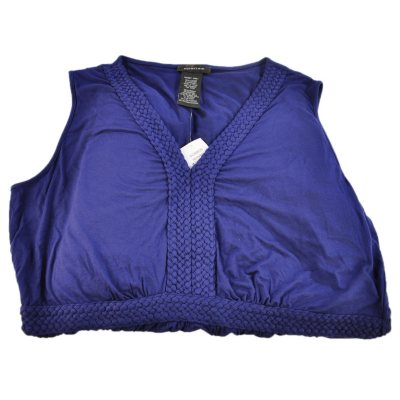 Spense Sleeveless Braided V-Neck Maxi Dress, New Navy (Small).  Ends: Oct 1, 2014 6:10:00 PM CDT