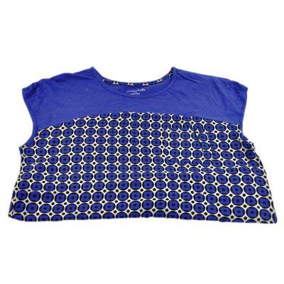 RXB Woven Print Tee Shirt, Cobalt Swiss Dot (Small).  Ends: Oct 2, 2014 2:25:00 PM CDT
