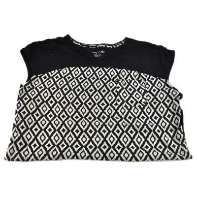 RXB Woven Print Tee Shirt, Black Ikat (Medium).  Ends: Oct 1, 2014 6:10:00 PM CDT