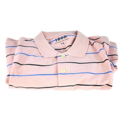Izod 100% Pima Cotton Polo, French Pink (Large).  Ends: Oct 1, 2014 11:20:00 AM CDT