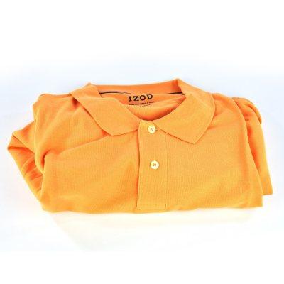 Izod 100% Pima Cotton Polo, Orange (XL).  Ends: Oct 2, 2014 2:25:00 PM CDT